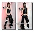 Punkrave goth kaya serseri uzun pantolon dantel etek ve toptan fiyat k-093