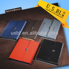 Promotional Full-color Leather Notebook with magnet closure in the center