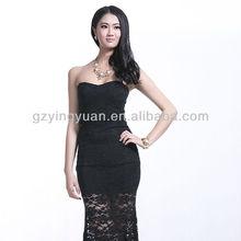 black fashion sexy dress black lace maxi latest design muslim dress