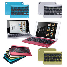 Aluminum Bluetooth 3.0 Wireless Keyboard Holder Case Cover for iPad Mini