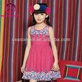 verano de algodón bordado vestido de la muchacha