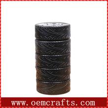 Black tyre shape handmade ceramic Mug