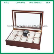 Luxury 10 Watch Wooden Display Box Case New
