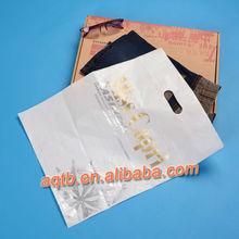 white die cut plastic bags for pants
