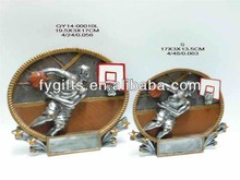 Polyresin China special custom design resin trophy of basketball