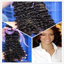 Full Ends No Split Curly Hair Human Virgin Cambodian Hair Extension
