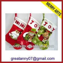 2014 yiwu market china wholesale lovely fashion snowman/santa christmas stockings
