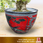 Chinese Red Glazed Decorative Industrial Ceramic Cylinder