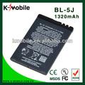China fabrico de telefone celular bateria bl 5j bl-5j bateria para nokia 5800 5800xm 5800 ixm