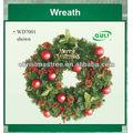 tradicional pvc grinalda do natal alvo decorativa flor artificial grinaldas de natal