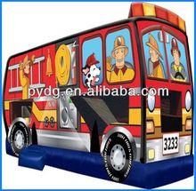outdoor amusement park inflatable fire truck combo