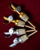 Luxury Golden Self-Closing Pour Spout Bottle Pourer Cork