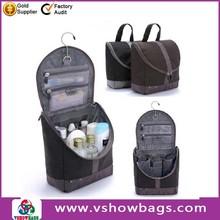 Good quality foldable waterproof ladies travel toiletry bag women's hanging travel toiletry bag
