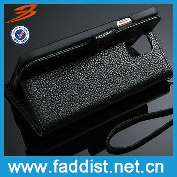 Commercial case leather flip case for Samsung s5 Hot