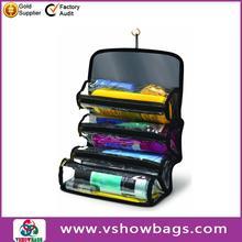high quality Folding men Travel Wash Organizer pvc toiletry bag