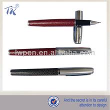 Senior Fashionable New Design Metal Leather Pen