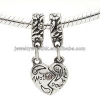 mom charm, wholesale handmade 925 sterling silver mom charm