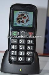 1.77'' color screen bluetooth dual sim cellphone for old man , elder sos big button mobile phone