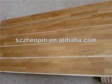 Three strip white oak engineered wood flooring
