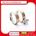 chinês de ouro e prata aço stiainless anéis de casal
