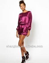 Women fashion design smooth satin feel jumpsuits