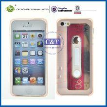C&T Retro cassette tape mobile phone tpu case for iphone 5