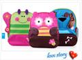 lindo 2014 mochila de los niños de la escuela con la bolsa de dibujos animados