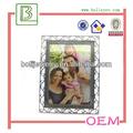 antiguos de plata marco de fotos adornado la imagen clásica fotografía
