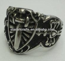 SRM411 stainless steel d ring, stainless steel finger ring