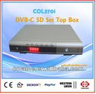 COL370i CATV DVB-C Set Top Box, cable TV box decoder, digital analog tv converter, best satellite receiver 2014