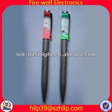 2014 China Supplier New Style Colourful Led Flashing fancy ball pens