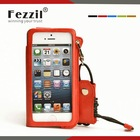 Fezzil Elegant Wristlet and Big Window Viewed Mobile Phone Leather Cover for iPhone 5 5S
