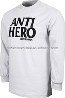 Advertising embroidered fabric men long sleeves tee shirts