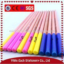7 polegada rouge naturel en bois couleur crayon HB avec top dip