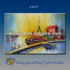 boat on the beach oil painting handmade for wall decor