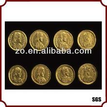 Fake eco 24k gold plating coins