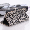 Hot Selling Leopard leather case Smartphone cover Wallet with Card Holder For iphone 5 5g