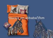 2014 new horse design 3d wholesale 100% cotton reactive printed bedding set