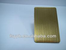 China gold polished metal plate