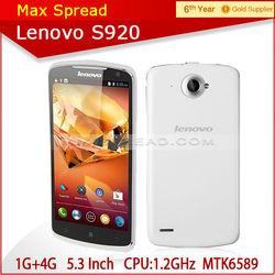 5.3 inch 8MP QUAD CORE MTK6589 Lenovo S920 Mini android smartphone