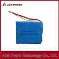 Güvenlik şarj edilebilir cep telefonu 535058 1600 mAh 7.4V li- polimer pil