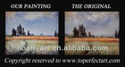 Handmade oil painting on canvas landscapes for sale