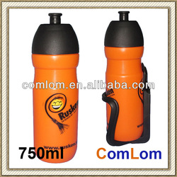750ml plastic PE Sport Bycles Water Bottle with race cage High quality