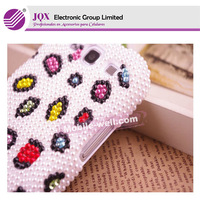 Hot diamond case,colorful pearl Rhinestone case skin for samsung note2
