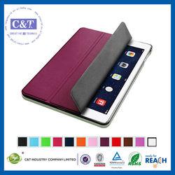 C&T Cute color design pu leather for ipad air smart case