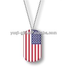customized stylish military dog tag pendant necklace