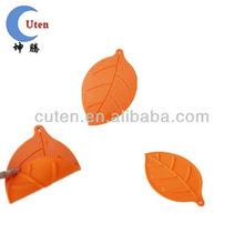 orange leaf shape silicone kitchen mat