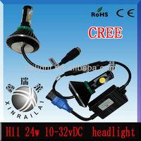 24w 2150lm 10v-32v h11 super powerful car headlight car auto led light, car,offroad,truck,heaheavy truck headlight