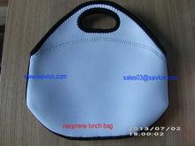 Blank white Neoprene Cooler lunch bag for sublimation