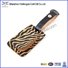 Animal Print Leather Luggage Tags Wholesale